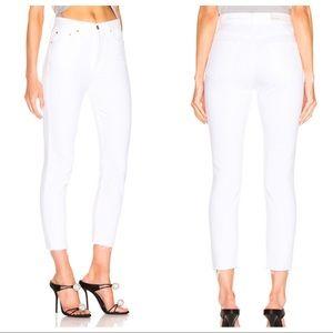 GRLFRND Karolina High Waisted Raw Ankle Jeans